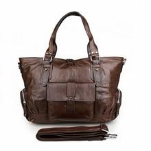 100% Genuine Leather men bag Shoulder Bag New vintage laptop business men's travel bags tote Men messenger bags 2016 new LI-1272