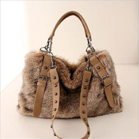 Autumn And Winter New Europe And America Style Women S Bag Large Cpacity Fake Fur Shoulder