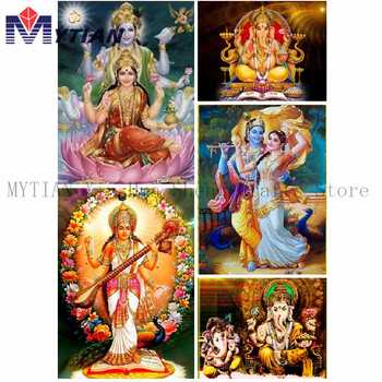 DIY 5d Diamond Painting Religious Icon Pearl Painting Diamond Nak Pictures Rhinestones Patchwork Gift Wall Rishna Radha lord image