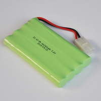 1-2PCS Ni-Mh 9.6V AA rechargeable battery pack 2400mah AA cell for RC Car helicopter toys led light cordless phone TG plug