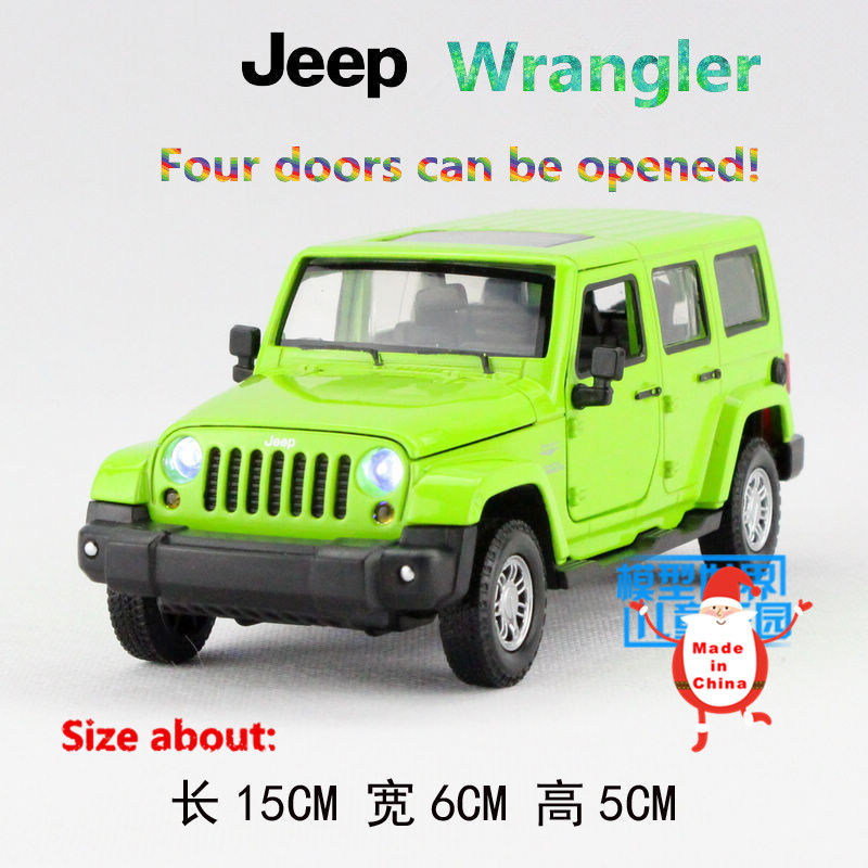 1 32 Simulation Die Cast model toy car Jeep Wrangler have lighting font b music b