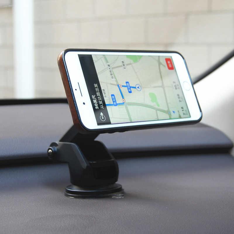 משושה מגנטי מחזיק רכב לוח מחוונים שמשה קדמית מגנטי מכונית טלפון בעל מגנט Stand הר תמיכה 360 Rotatable GPS תצוגה