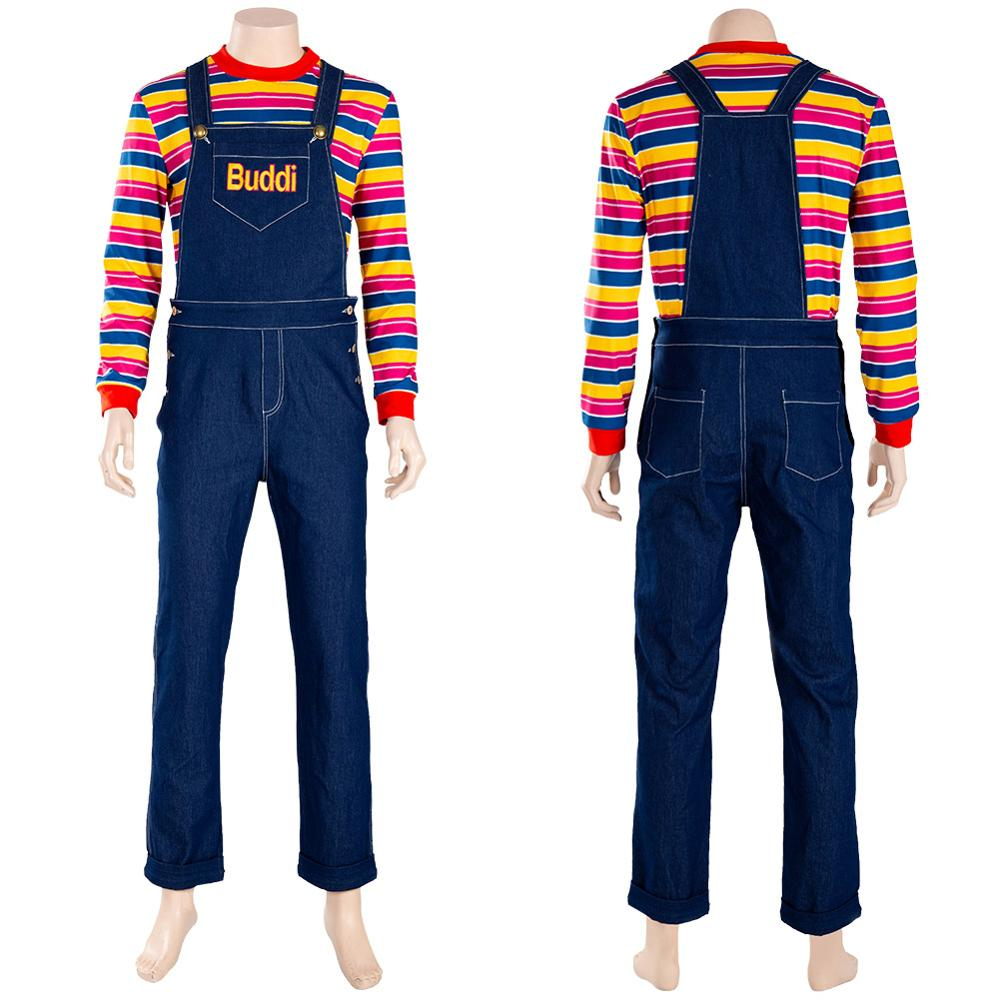Child/'s Play Chucky Cosplay Costume Kids Buddi Outfit Overall Halloween Carnival