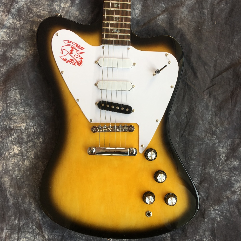 2019 nouveau + usine + personnalisé firebird guitare électrique sunburst oiseau guitare livraison gratuite