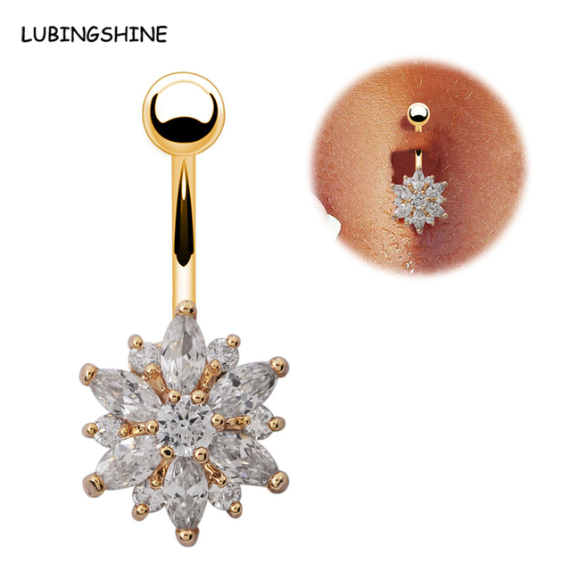 Us 2 56 3 Colors Crystal Bikini Body Jewelry Belly Button Ring Ferido Belly Bar Double Ball Piercing Navel Rings Women Girls Bijoux C443 On