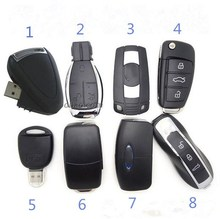 Eight styles 128G Car Key usb flash drive pen 64G 32G 16G memory stick card disk key