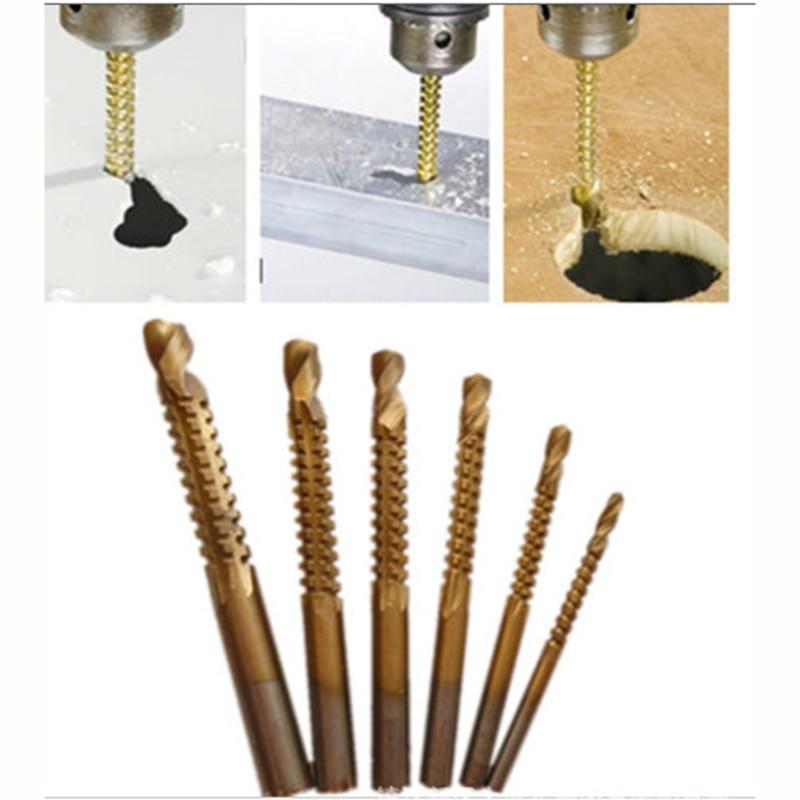 6 vnt hss plieno titano kūgio gręžtuvas mikro rankiniu gręžtuvu - Grąžtas - Nuotrauka 6