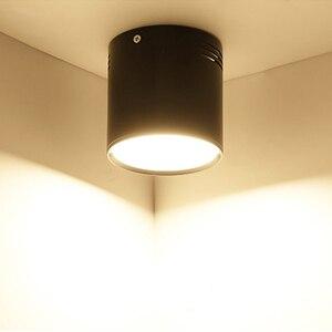 Image 1 - 7 واط/9 واط/12 واط/18 واط سطح شنت LED النازل AC110V/220 فولت الإضاءة الزخرفية النازل SMD5730 مصدر ضوء شحن مجاني