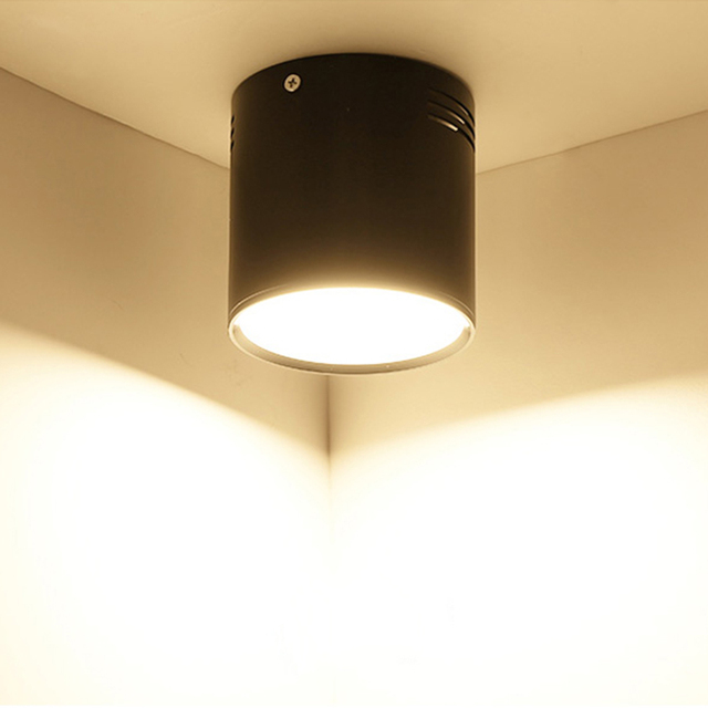 7 واط/9 واط/12 واط/18 واط سطح شنت LED النازل AC110V/220 فولت الإضاءة الزخرفية النازل SMD5730 مصدر ضوء شحن مجاني