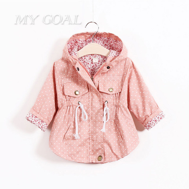 New Spring Baby  girls Clothes Baby Outerwear Infant Cartoon Coat wave printed batwing coat