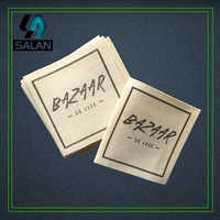 Customized Cotton clothing tags printed Natural Cotton Label Sewing Fabric printed cotton Labels custom main labels
