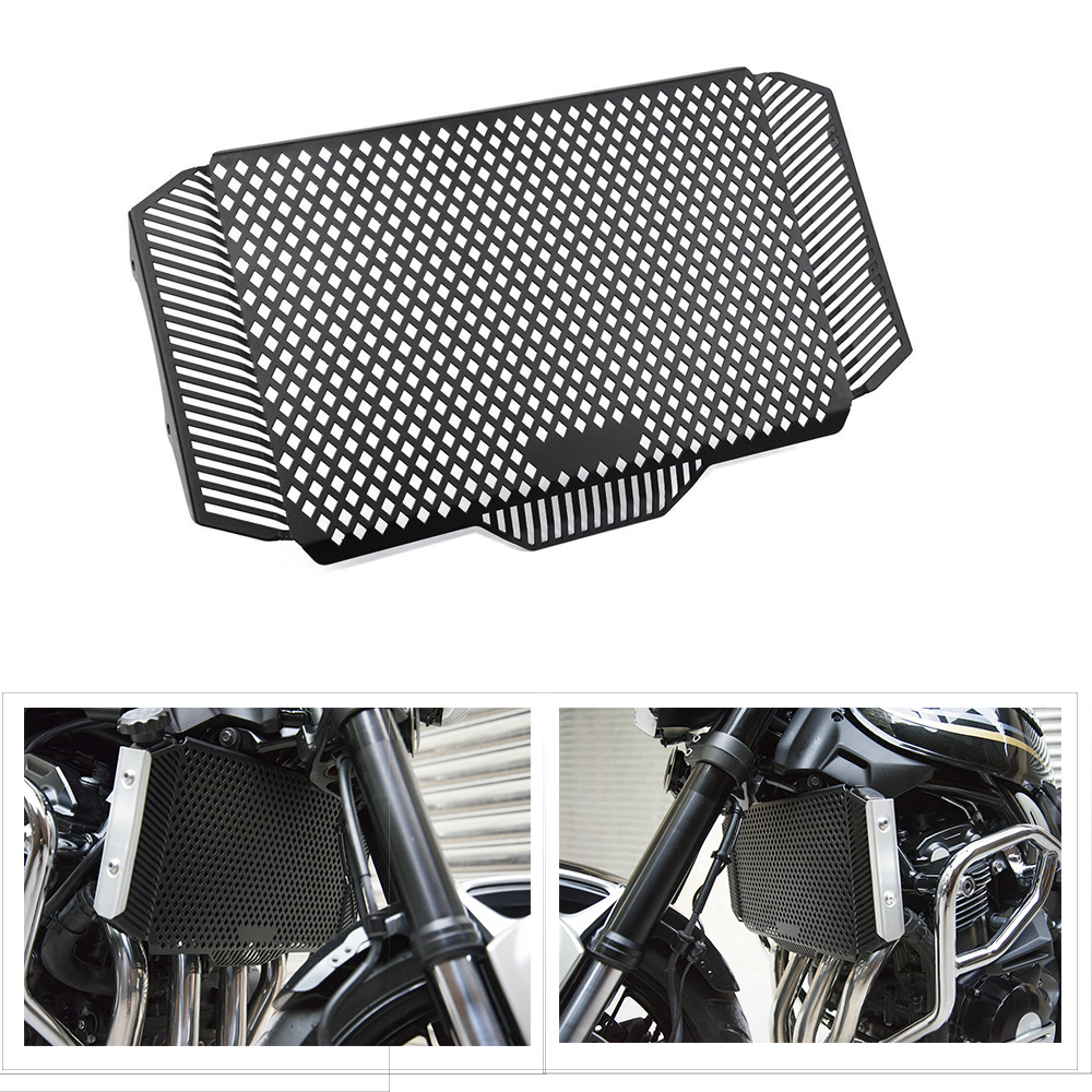 KEMiMOTO Radiator Guard Motorcycle Radiator Protective Cover Grille For KAWASAKI Z900RS 2018 2019
