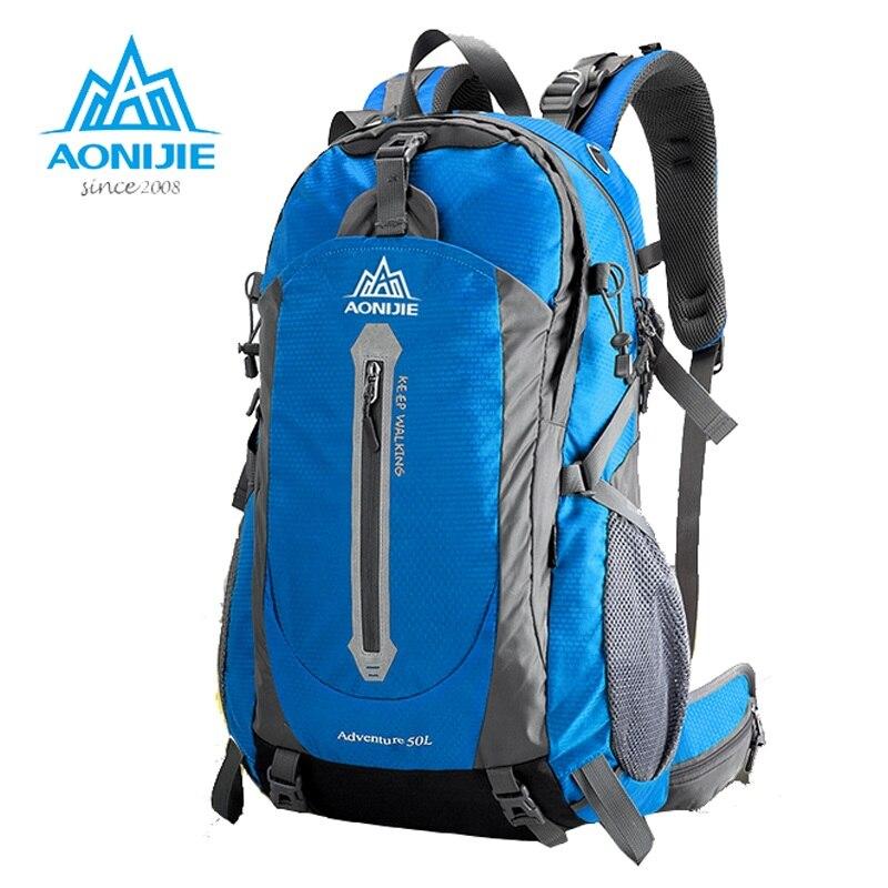 Prix pour Aonijie alpinisme montée à dos de voyage pack trekking sac à dos randonnée équipement 40 50l pour hommes femmes étanche épaule sac