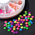 6 Colors 3D Different Design Metallic  Nail Art Salon  Stickers Tips DIY Decorations Studs   Chic Design 5GFH