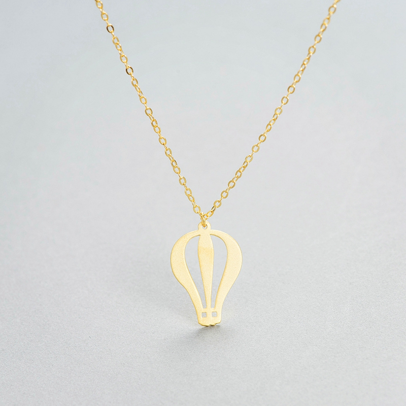 New design features 925 sterling silver personality hot air balloon pendant female models necklace pendants