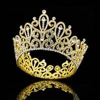 Fashion Designs Big Tiaras Large Pageant Crown Headdress Headband Diadem Prom Beauty Hair Jewelry Wedding accessories