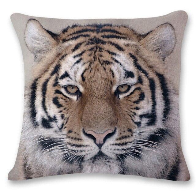 3D Tigre Leone Divano Letto Decorazione Domestica Festival Pillow Case Cuscino S