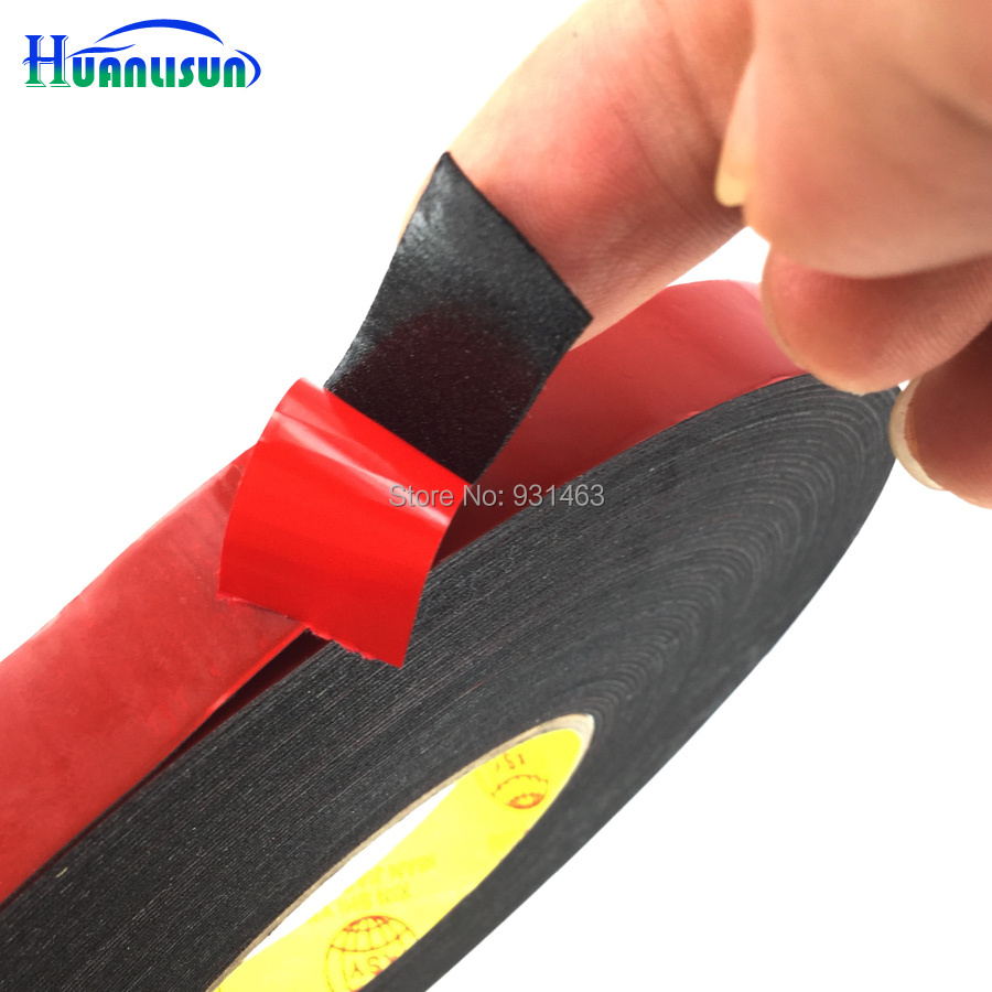 30metres Roll Repair Black Dust Proof Sponge Foam Tape Double Sided Adhesive, Auto Gasket Phone PCB Sealing(6mm, 10mm, 15mm)