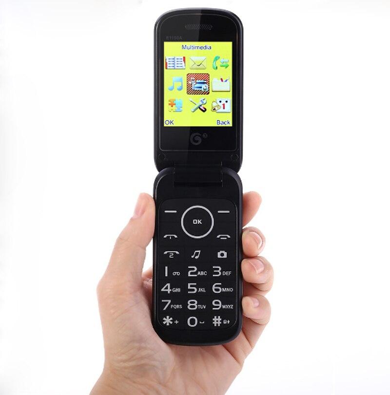 Цена за 2016 Дешевые 2.5 дюймов 2 Г GSM Старший старик Мобильный раскладной Телефон раскладушка мобильный Телефон Старший Русская Клавиатура Dual sim телефон