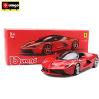 BBurago 1/18 Simulation Ferraris Alloy Sports Car Diecast Model Birthday Gift Collection Toys For Children Hot Steering Wheel
