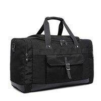 2017 Men Women Travel Bags Luggage Messenger Duffle Black Hand Shoulder Bag Waterproof Weekend Purse Business Large Big Packs