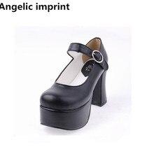 Impronta angelica donna mori girl lolita scarpe cosplay lady tacchi alti pompe donna abito da principessa scarpe da festa 33-47 tacchi 9.5cm