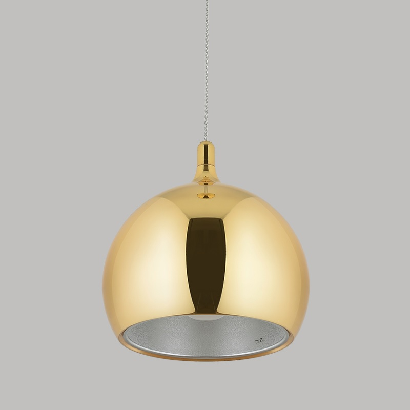 Gilded Pendant Barn Lights with E27 Socket / Metal Ball Shade with Golden Finish of 240mm(9) Open Gilded Pendant Barn Lights with E27 Socket / Metal Ball Shade with Golden Finish of 240mm(9) Open