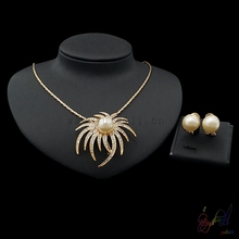 Yulaili Free Shipping Gold Plating Pearl Unique Designs Ladies Costume Two Jewelry Sets