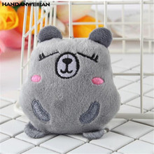 HANDANWEIRAN 1PCS Cartoon Kawaii Mini Groundhog Small Hamster Stuffed Toys Plush Pendant Wedding Gift Soft For Children 8CM