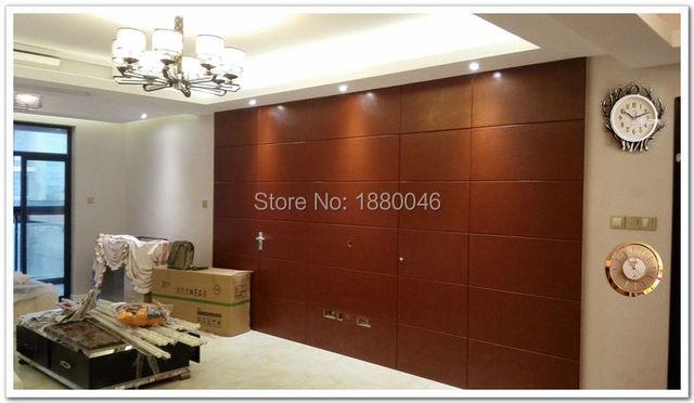 decorative acoustic panels 6pcs 60*30cm Custom Car Line Leather panel PU Leather wall panel Leather Acoustic Panels living room