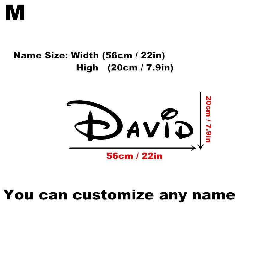 Customized Personalized DIY Name Children Home Decor Nursery Kids Room Vinyl Sticker Wall Art Sticker Decal Removable