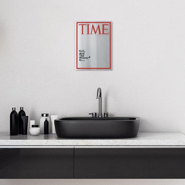 Time Magazine Cover Spiegel Man van het Jaar Opknoping Spiegel voor in jouw Mancave Thuis Bar Muur Decor  2
