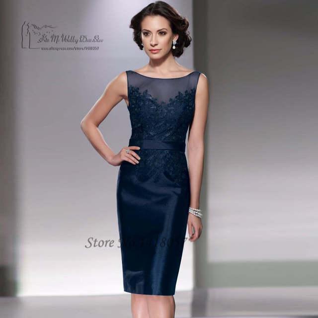 69bbff521d5247 Online Shop Vestidos Mae Noiva 2017 Navy Blue Plus Size Mother of the Bride  Dress with Jacket Women Evening Pant Suits Bolero Knee Length