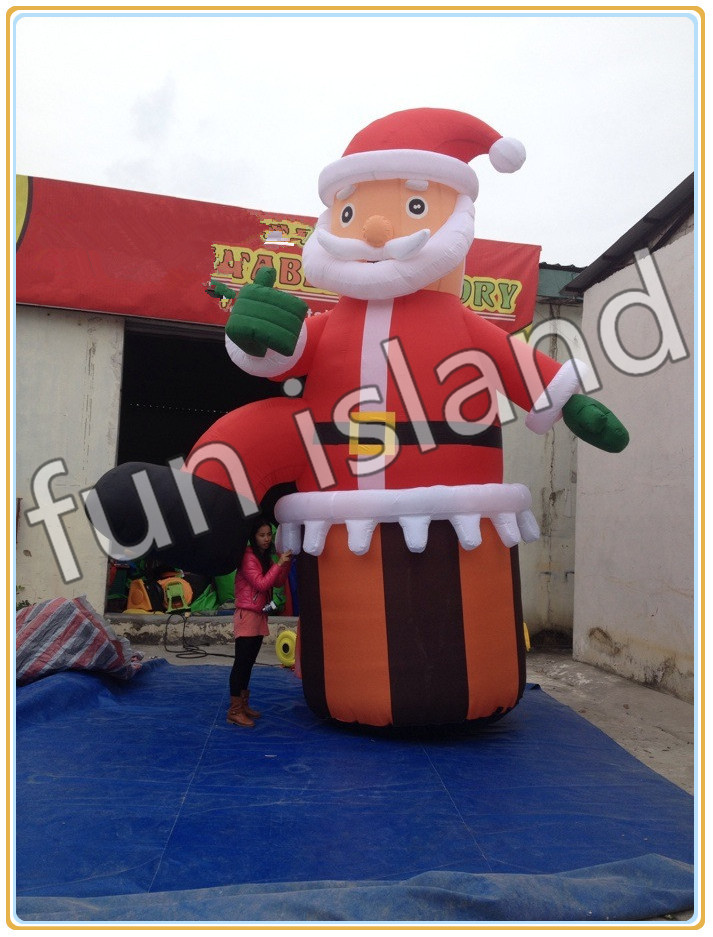 Free shipping Hot sales inflatable Christmas Santa claus christmas decoration 5m high big inflatable christmas santa claus climbing wall decoration 16ft high china factory direct sale festival toy