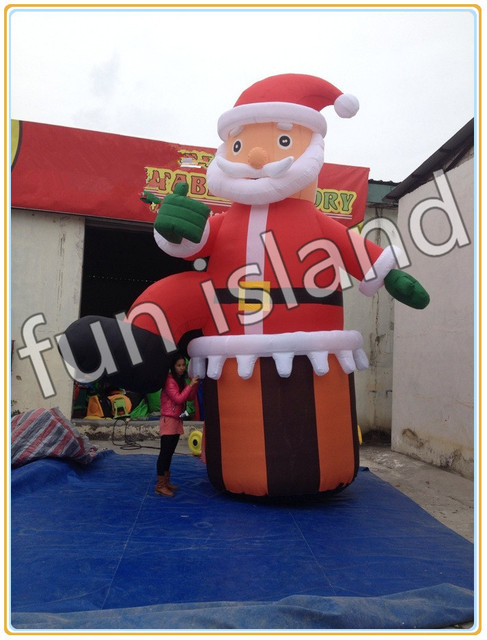 Free shipping Hot sales inflatable Christmas Santa claus christmas  decoration - Free Shipping Hot Sales Inflatable Christmas Santa Claus Christmas