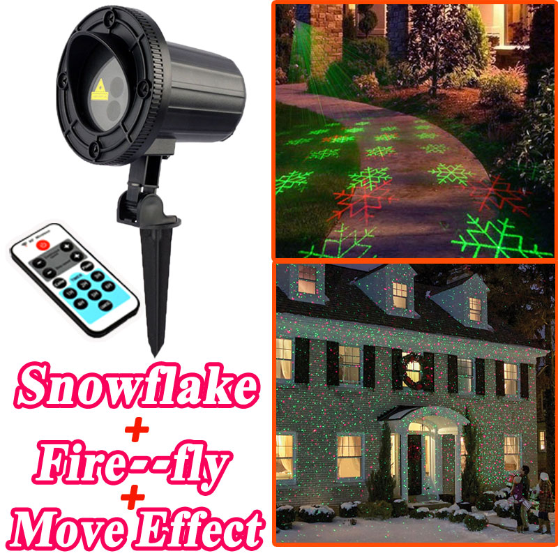 Christmas Star Laser Snowflake Projector Shower Motion Double Color With Remote Outdoor Waterproof Decorations For Home laser shower waterproof outdoor laser light projector christmas holiday twinkling star lights garden decorations for home