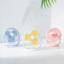 2019 new usb mini fan rechargeable portable fan student desktop fan charging fan цена