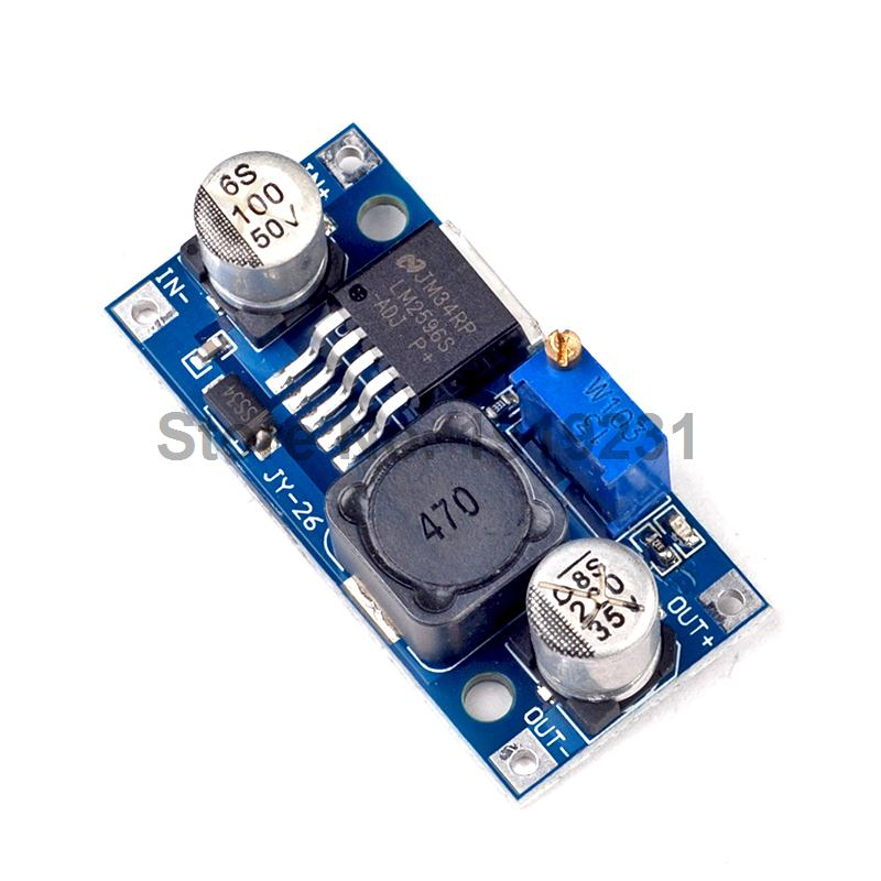 10PCS LM2596 LM2596S DC-DC Adjustable Step-down Power Supply Module 1pcs dc dc lm2596 adj lm2596s dc dc adjustable buck module