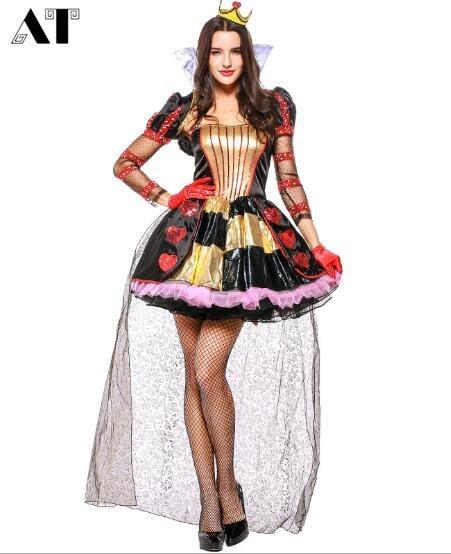 Costume de reine femmes Cosplay Halloween longue robe Sexy femme princesse vêtements reine partie jeu de rôle