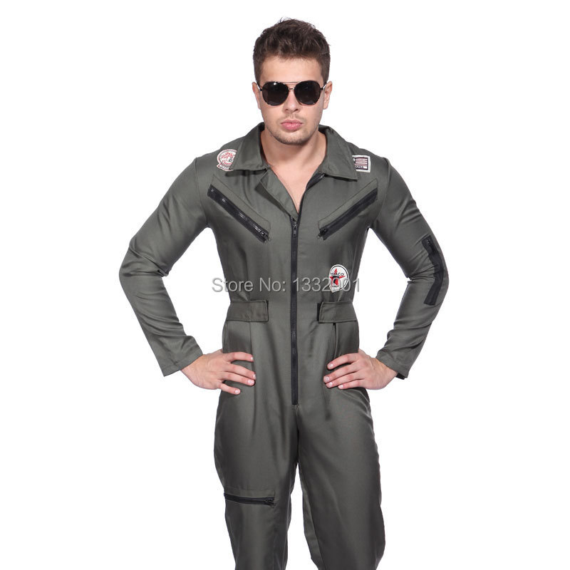 Mens 80u0027s Top Gun Fighter Pilot Costume Aviator Flight Suit 1980s Fancy Dress-in Menu0027s Costumes from Novelty u0026 Special Use on Aliexpress.com | Alibaba Group  sc 1 st  AliExpress.com & Mens 80u0027s Top Gun Fighter Pilot Costume Aviator Flight Suit 1980s ...
