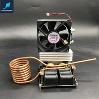 ZVS Low Voltage Dedicated Induction Heating Machine High Frequency Large Heat Sink Board Copper Tube Cooling