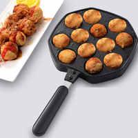 12 trous en alliage d'aluminium Takoyaki Pan Takoyaki fabricant 18 trous Chibi Maruko machine de cuisson formes moule moule pieuvre Machine de cuisson