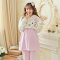 Autumn Winter Sleepwear for pregnant women clothing breast feeding clothes women pajamas home nursing clothes Cartoon Cat