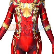 Custom Made Spider-Man 3D Printing Red Gold MCU Iron Spider Superhero Costume