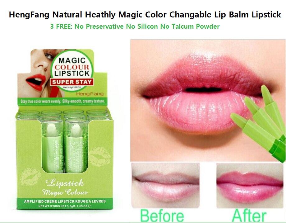 (12/box) magic temprate change colour lip balm natural ...