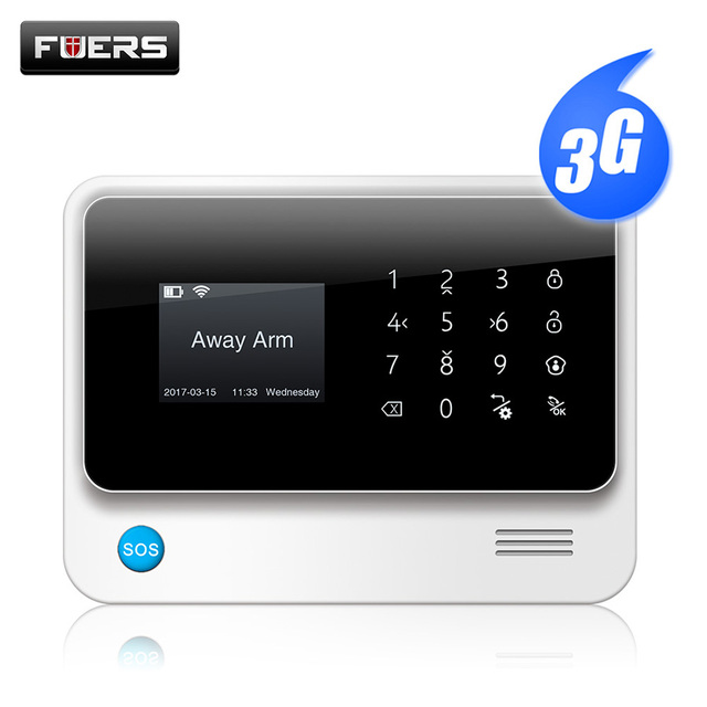 Fuers G90B 3G 2.4G WiFi GSM SMS Wireless 433MHZ Home Security System IOS Android APP Remote Control alarm kit