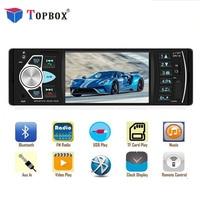Topbox 1 Din 4 Car Radios 4022d FM Radio Car Auto Audio Stereo Bluetooth Autoradio Support Rearview Camera AUX TF USB Indash