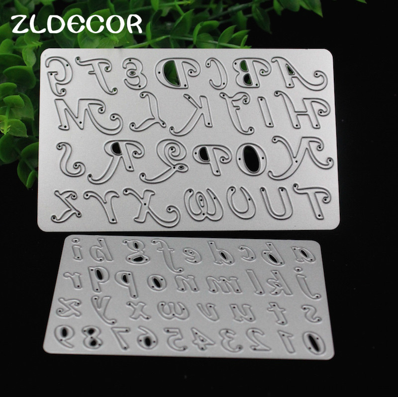 zldecor numberletter metal cutting dies stencils for diy scrapbookingphoto album decorative embossing diy paper