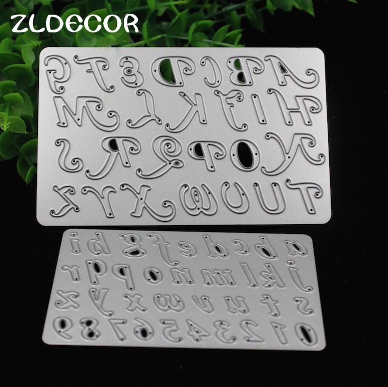 zldecor numberletter metal cutting dies stencils for diy scrapbookingphoto album decorative embossing diy paper