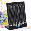 2014 Fashion Hot selling New 12 Hooks Black color Necklace Bracelet jewelry Display Plate Shelf Frame Free Shipping